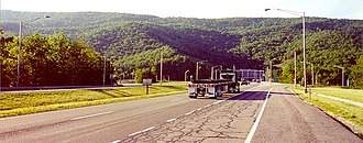 Interstate 77 - Northbound at East River Mountain Tunnel, at the border of Virginia and West Virginia