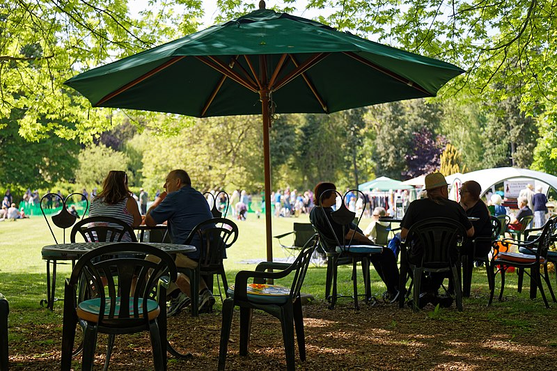 File:Easton Lodge Gardens, Little Easton, Essex, England outdoor café 06.jpg