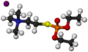 Echothiophate - Image: Echothiophate Molecule 3D balls
