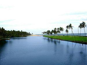 Geography of Thiruvananthapuram - Edava-Nadayara lake Near Thekkumbhagam-Kappil