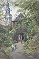 Edward Theodore Compton Spaziergänger am Mönchsberg mit Blick auf die Müllner Kirche.jpg