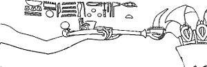 Lustration - Drawing of a relief from the Karnak temple in Egypt showing a pharaoh lustrating with incense