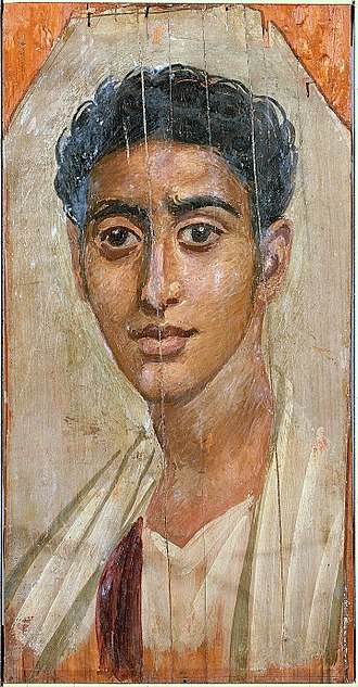 Fayum mummy portraits - A portrait from the late 1st century AD. Walters Art Museum, Baltimore.