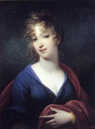 Grand Duchess Elena Pavlovna of Russia - Elena, Hereditary Grand Duchess of Mecklenburg-Schewrin, by Josef Grassi, 1802. Pavlovsk Palace.