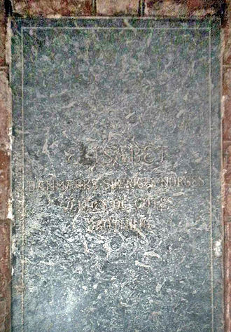 Isabella of Austria - Elizabeth's gravestone in Odense Cathedral.