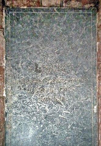 Isabella of Austria - Elizabeth's gravstone in Odense Cathedral.