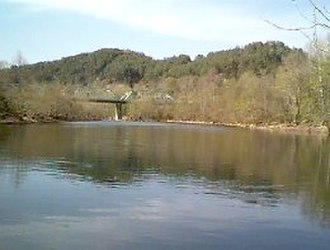 Emory River - The Emory River near Oakdale, Tennessee