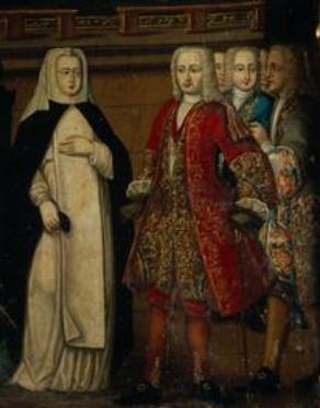 Encontro de D. Joao II com Santa Joana em Alcobaca - Manuel Ferreira e Sousa