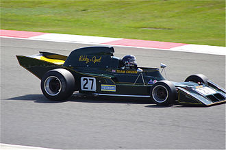 Ensign Racing - The N173, Ensign's first Formula One car, being driven at Silverstone in 2012.