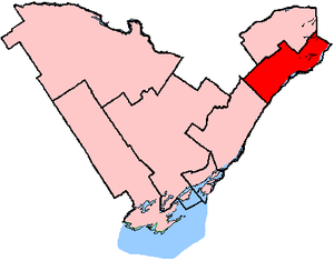 Stormont—Dundas—South Glengarry - Stormont—Dundas—South Glengarry in relation to other eastern Ontario electoral districts (2003 boundaries)