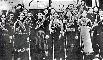 Autonomous Republic of Northern Epirus - Armed group of Epirote women. August 1914, Gjirokastër region.