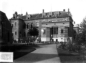 Leiden University Medical Center - The university hospital in the Steenstraat, Leiden, in the 19th century.