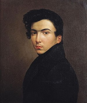 Ernest Hébert - Self-portrait, aged 17