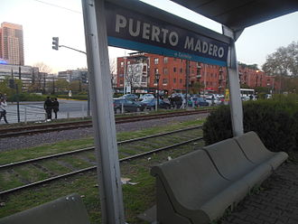 Sarmiento Line - Puerto Madero station is currently disused and the line's services now terminate only at Once
