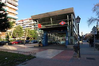 Parque Lisboa (Madrid Metro) - Image: Estación de Parque Lisboa