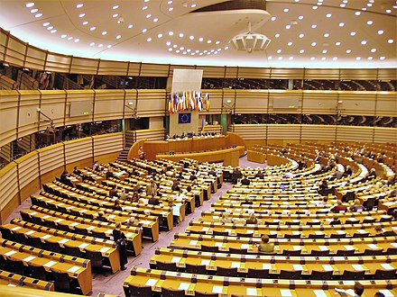 The EU parliament in Brussels. Sweden is one of 28 member states of the European Union. European-parliament-brussels-inside.JPG