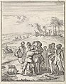 Europese matrozen proberen tevergeefs om Aboriginals vaten te laten dragen, RP-P-1896-A-19368-1316.jpg