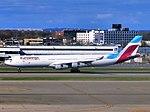 Eurowings (Brussels Airlines) Airbus A340-300 OO-SCW landing at JFK Airport.jpg