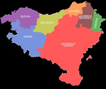 Mapa De Pais Vasco Por Provincias.Nacionalismo Vasco Wikipedia La Enciclopedia Libre