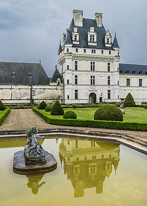 Exterior view of the Castle of Valençay, Indre, France