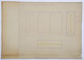 Fönsterritning till Hallwil-Zimmer, 1927 - Hallwylska museet - 108722.tif