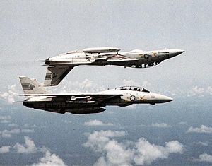 F-14A Tomcats VF-1 in flight 1982.jpg