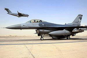 114th Fighter Wing - 114th Fighter Wing F-16 at Balad AB, Iraq, 2010