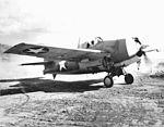 F4F-4 Wildcat with running engine on Guadalcanal c1942.jpg