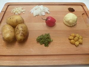 Aloo pie ingredients
