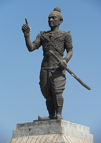 Laos - A statue of Fa Ngum, founder of the Lan Xang kingdom.