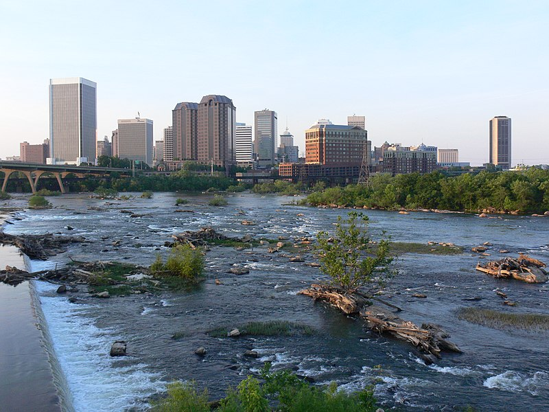 File:Falls of the James, Downtown Richmond, Virginia, 2008.JPG