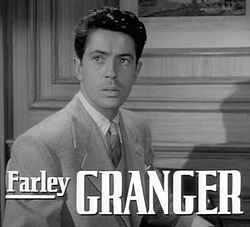 Farley Granger in Strangers on a Train trailer.jpg