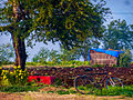 Farmyard with a little hut and an old bicycle .jpg