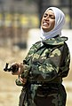 Female iraqi soldier with a Kalashnikov.JPEG