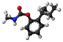 Ball-and-stick model of the fenobucarb molecule