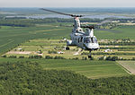 Final flight of CH-46E of HMM-774 from Norfolk to MCAS Cherry Point in August 2015.JPG