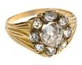 Fingerring av guld med briljanter, 1800-talets andra hälft - Hallwylska museet - 110190.tif