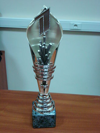 Channel One Cup (ice hockey) - The Channel One Cup trophy in 2010