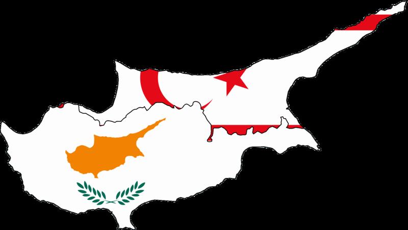 FileFlag Map Of Cyprus And Turkish Northern Cypruspng - Map of northern cyprus in english