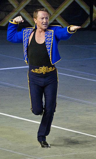 Michael Flatley - Flatley performing in Feet of Flames, in Taipei, 2006.