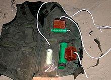how are suicide belts or vests detonated