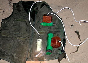 Explosive belt - A suicide vest captured by the Israel Defense Forces (2002)