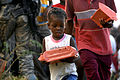 Flickr - The U.S. Army - Soldiers bring food to children in Haiti.jpg