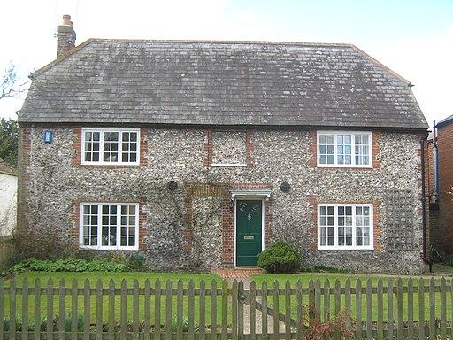Flint and slate house in Barham - geograph.org.uk - 1778122