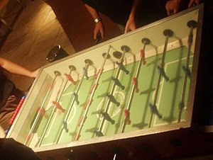 Table football - A Garlando style table with a game in progress