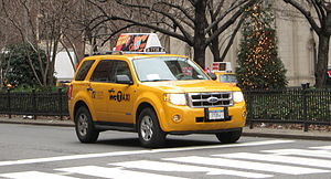 Hybrid taxi - Ford Escape Hybrid taxi in New York City.