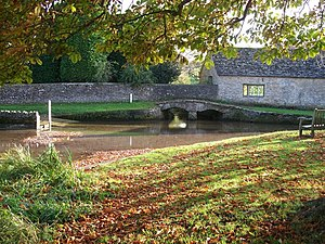 Shilton, Oxfordshire - The ford and footbridge across Shill Brook