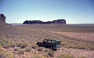 Fort Rock-Christmas Lake Valley Basin - Fort Rock and its basin