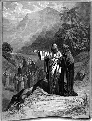Lech-Lecha - Abraham and Lot Divided the Land (illustration from the 1897 Bible Pictures and What They Teach Us by Charles Foster)