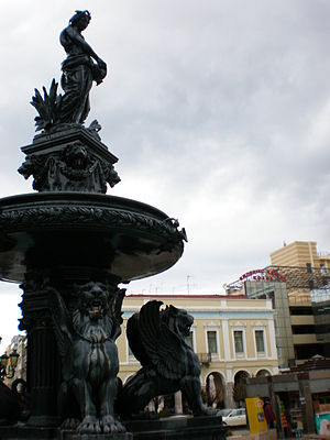 Fountain and statue in Patra